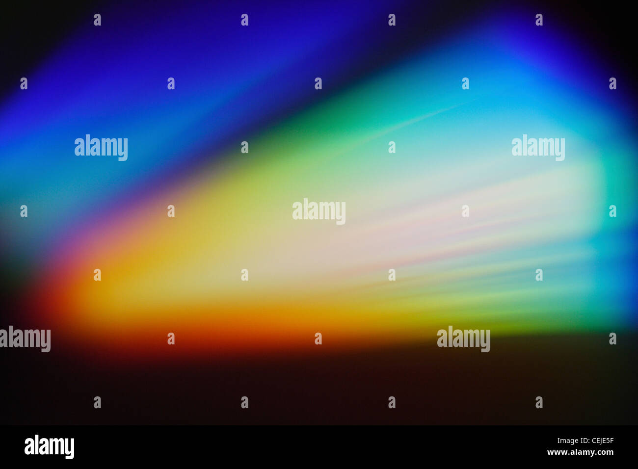 Abstract colours and light patterns on a CD - Stock Image