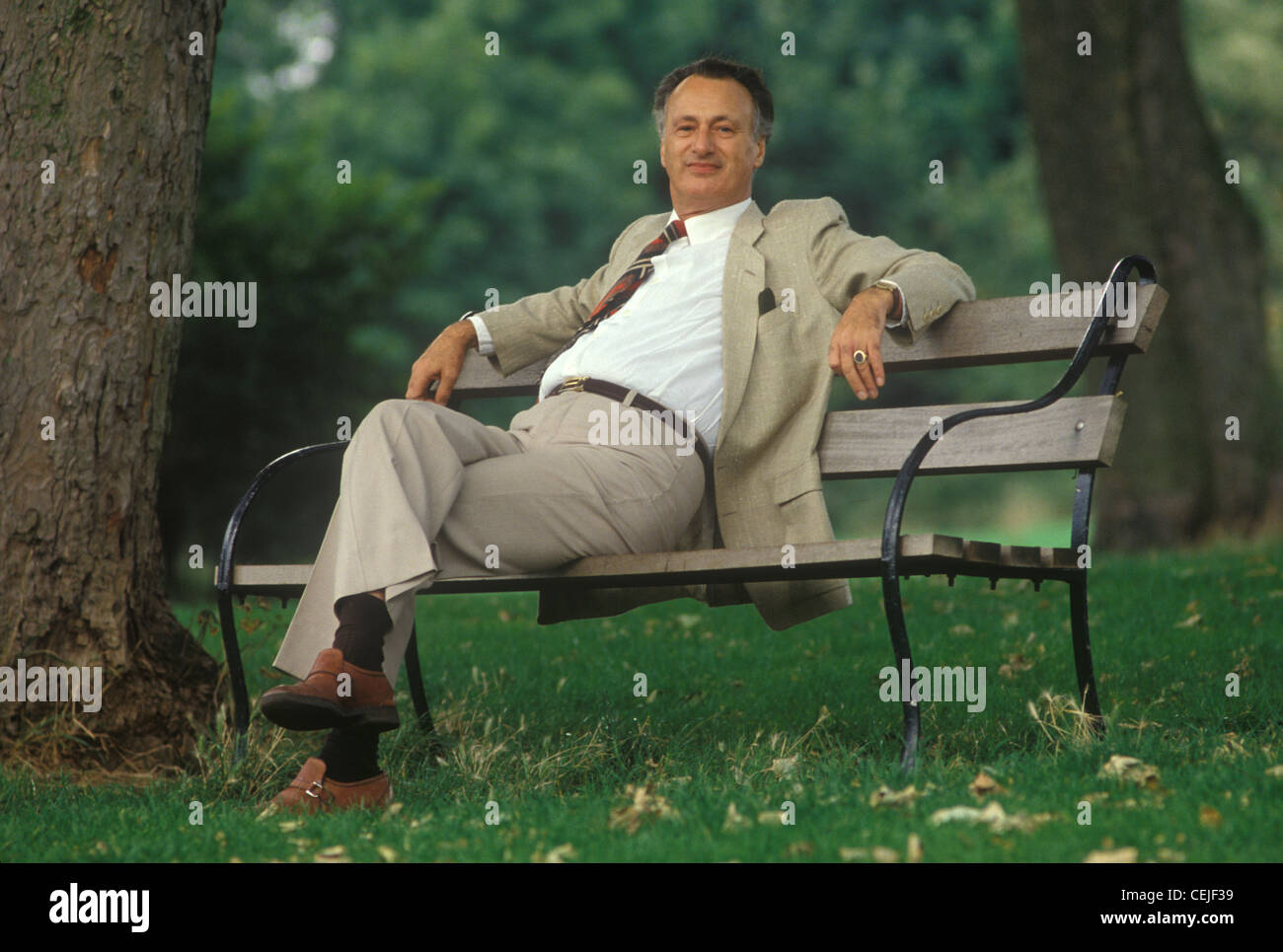 Paul Eddington actor. 1980s. HOMER SYKES - Stock Image