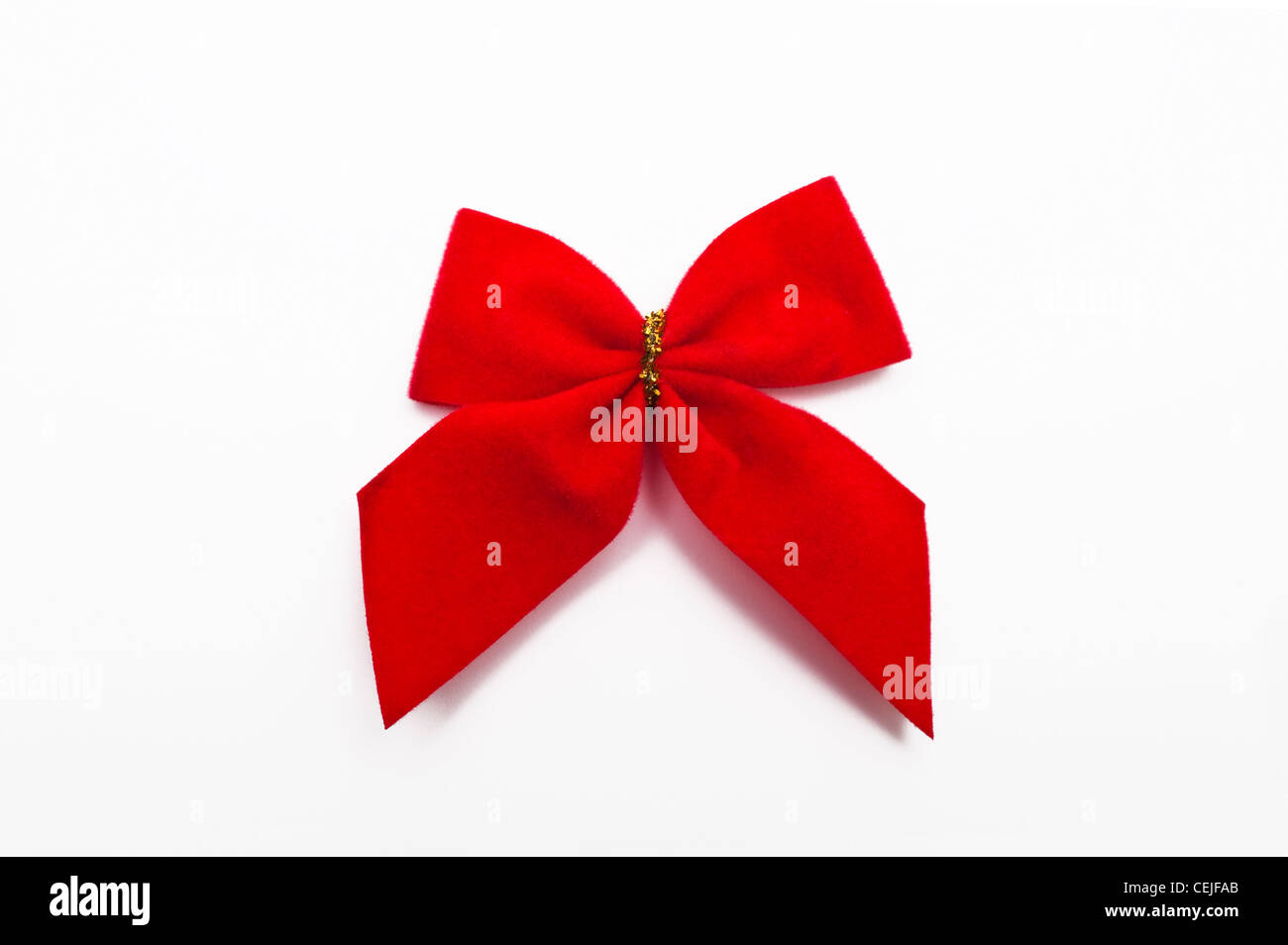 A red ribbon bow - Stock Image