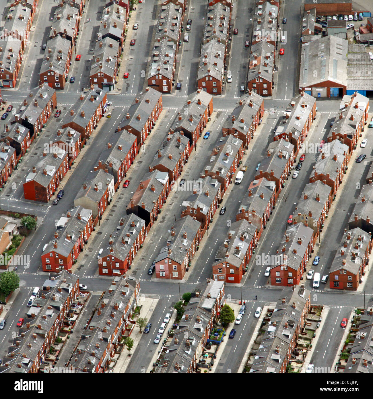 Aerial image of Back-to-back housing - Stock Image