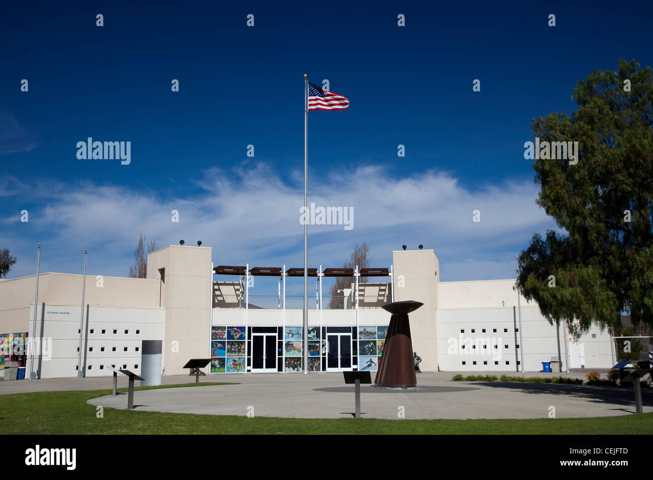 Chula Vista, California - The visitor center at the U.S. Olympic Training Center. - Stock Image