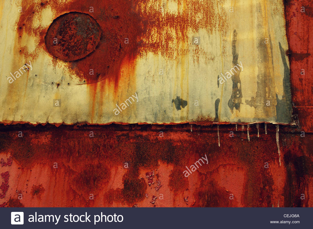 Detail of a Rusty Wagon - Stock Image