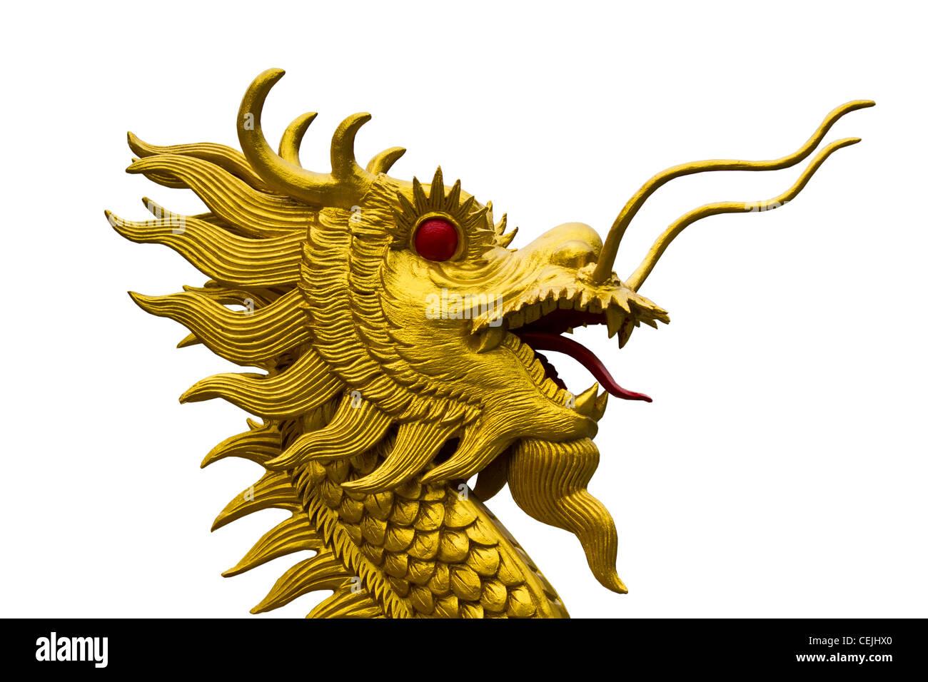 Golden Dragon Head Statue On Stock Photos & Golden Dragon Head ...