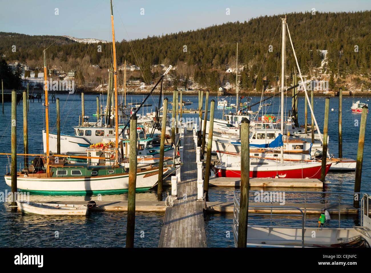 Coastal life in Maine. - Stock Image