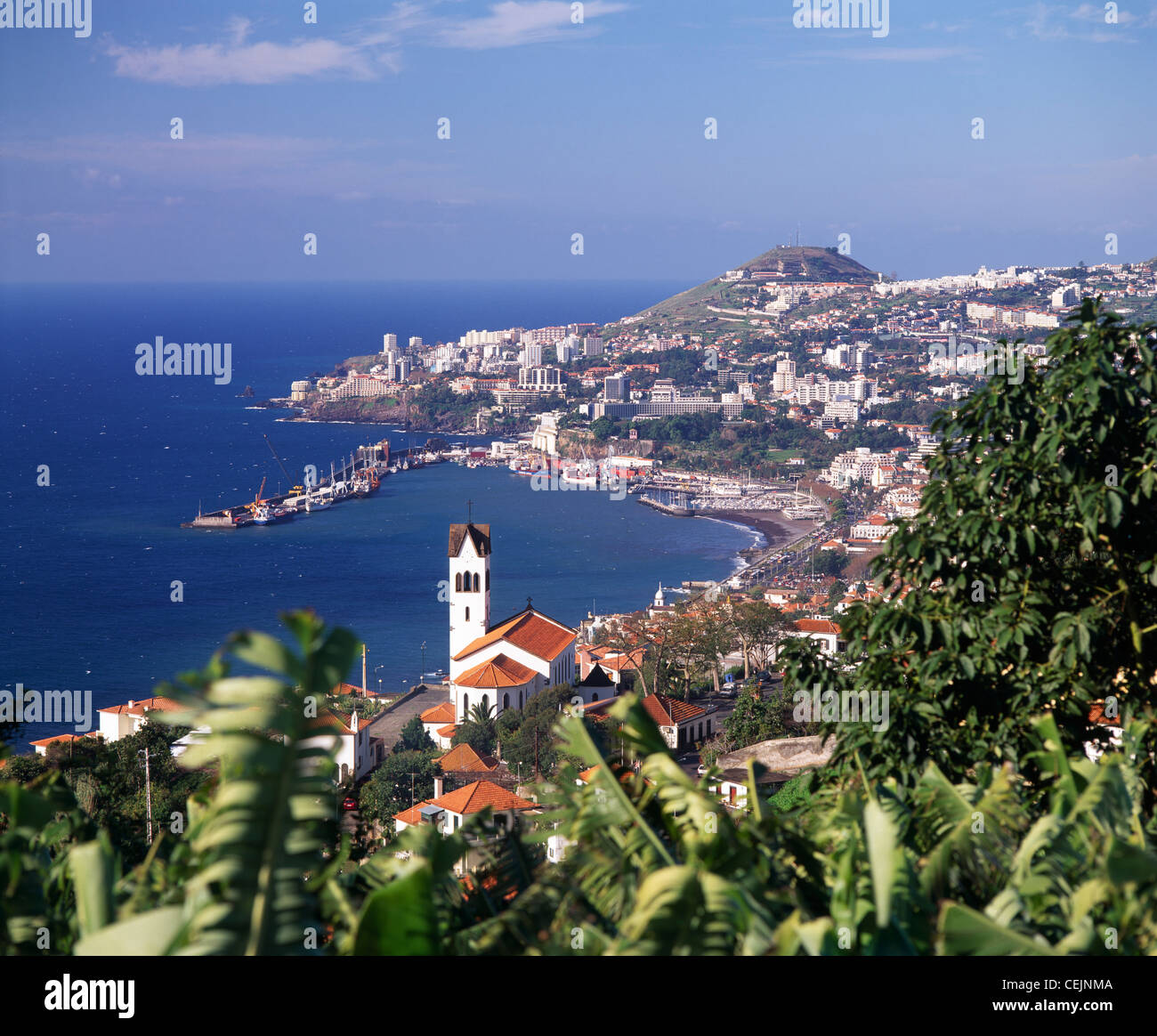 View over Funchal, Madeira, Portugal. - Stock Image