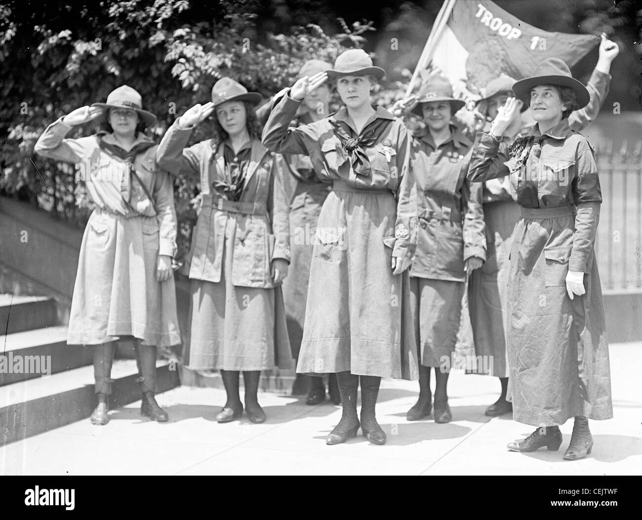 Juliette Low, founder Girl Scouts America - Stock Image