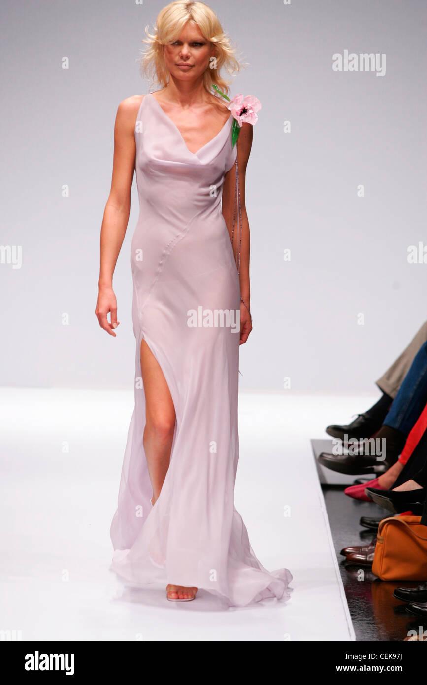 Krizia Milan Spring Summer Model shoulder length blonde hair wearing ...