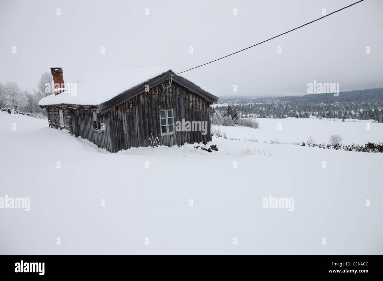Norway, 20120210, winter landscape - Stock Image
