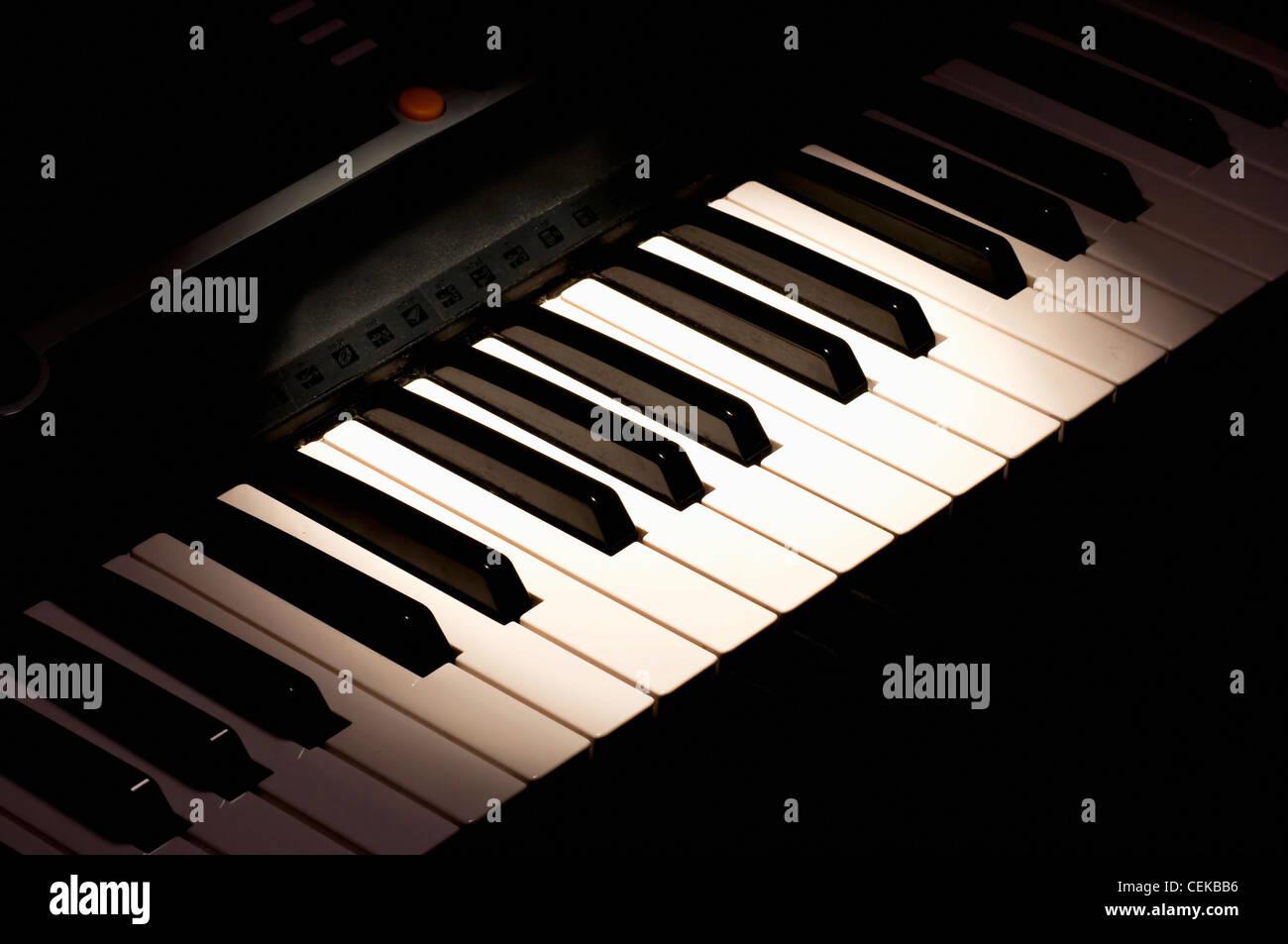 Electronic synthesizer - Stock Image