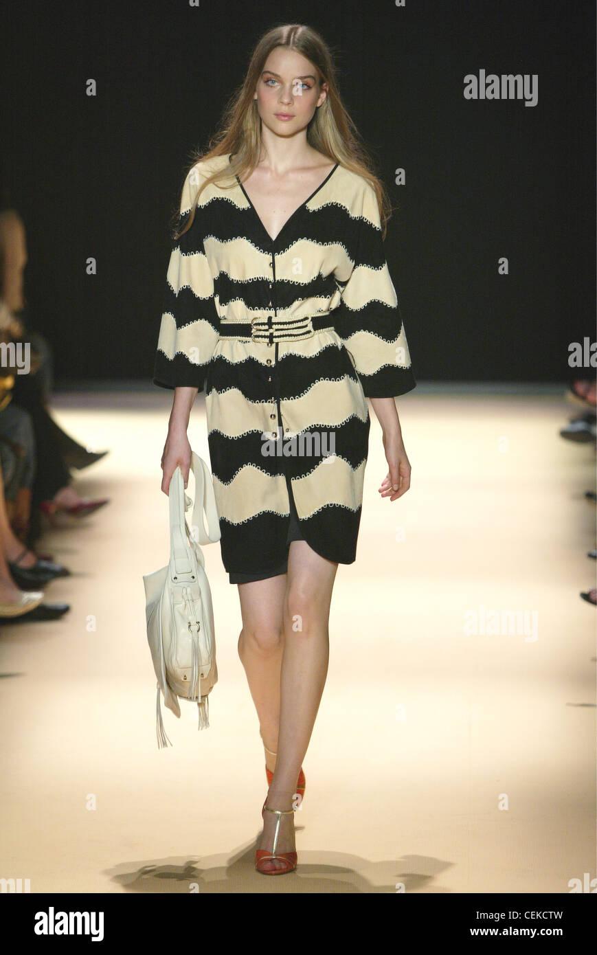 95e03efe002 Salvatore Ferragamo Milan Ready to Wear S S Model wearing black and ...