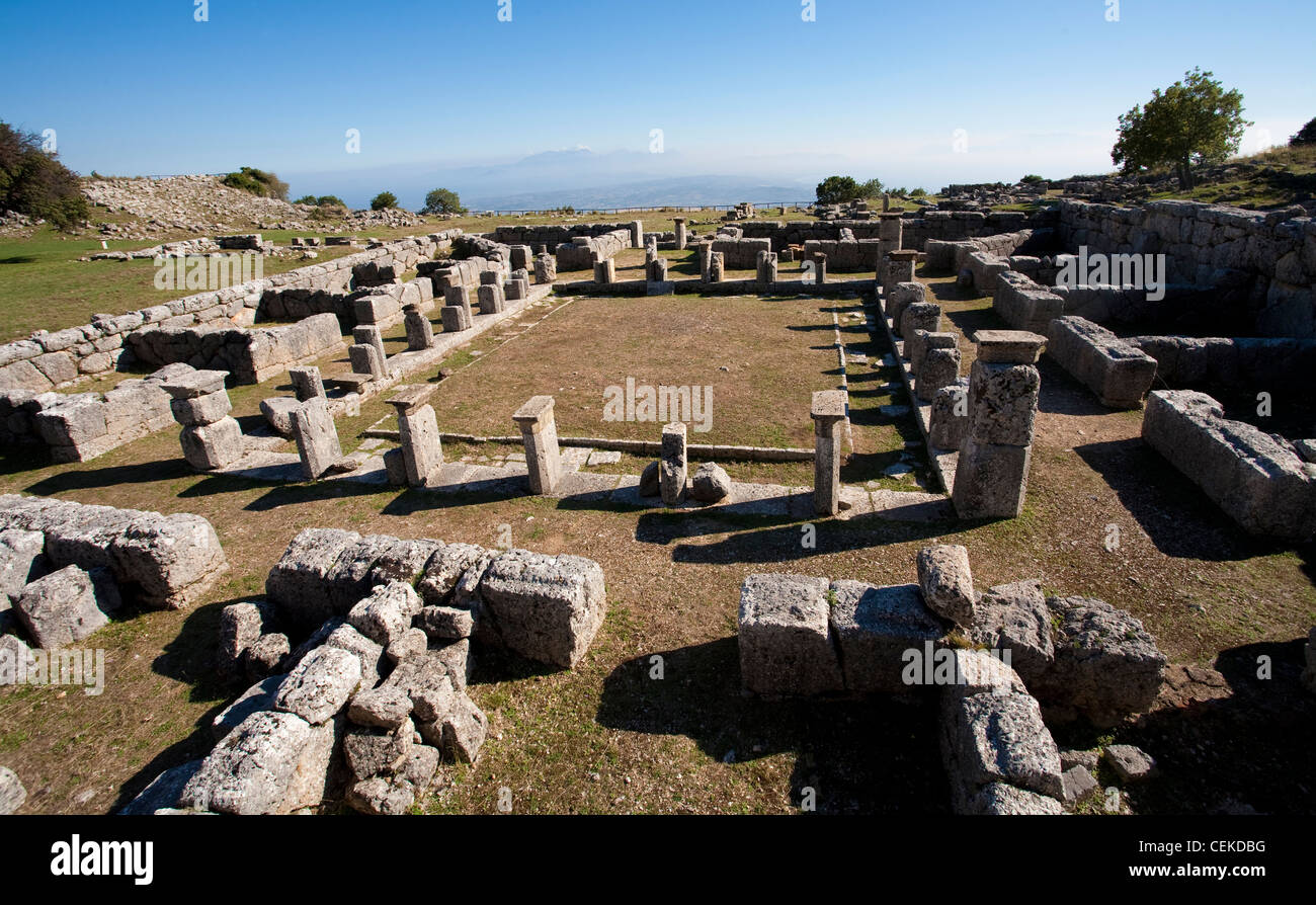 Kassope founded beginning 4th century BC possibly consolidation smaller rural villages splendid example city based - Stock Image