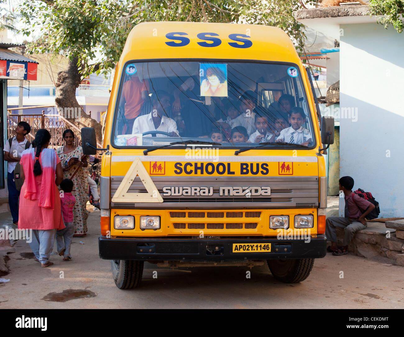School Bus In India Stock Photos School Bus In India Stock