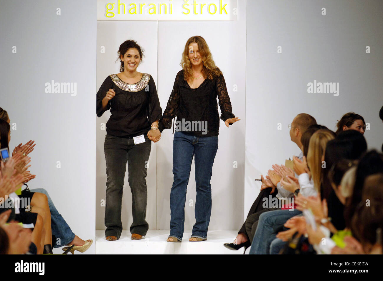 4884392cb7 Gharani Strok London Ready to Wear Spring Summer London design duo Nargess  Gharani and Vanya Strok (right) after their show