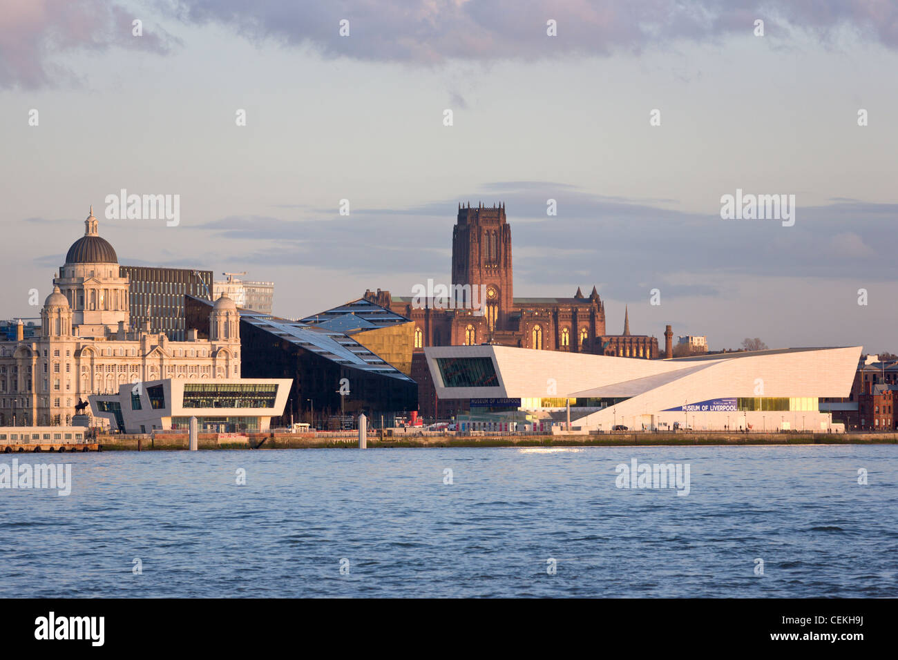 Skyline and Waterfront, Liverpool, England - Stock Image