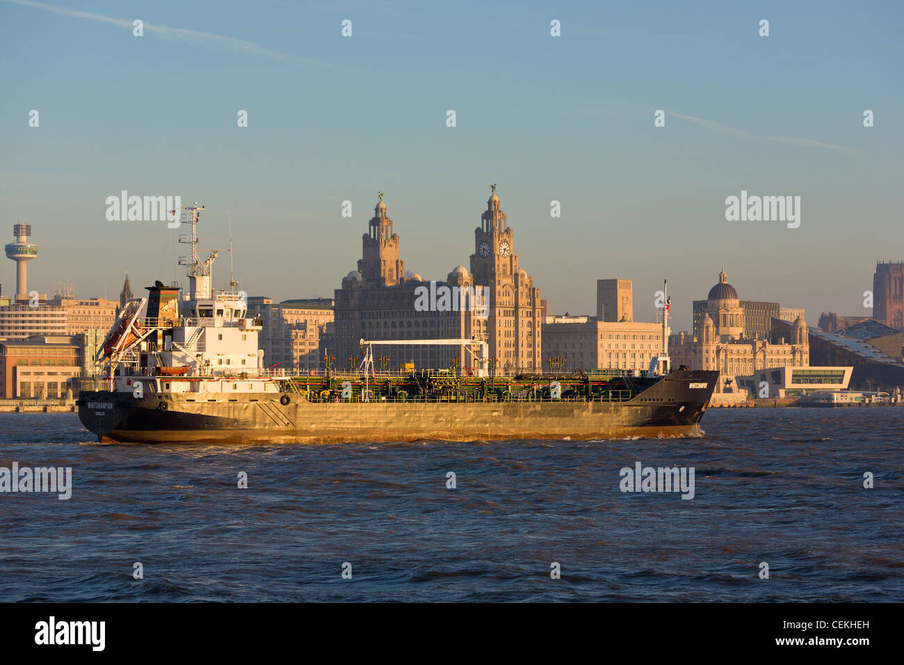Liverpool shipping - Stock Image