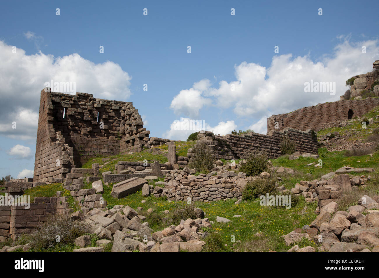 Turkey, Assos, Hellenistic Walls - Stock Image