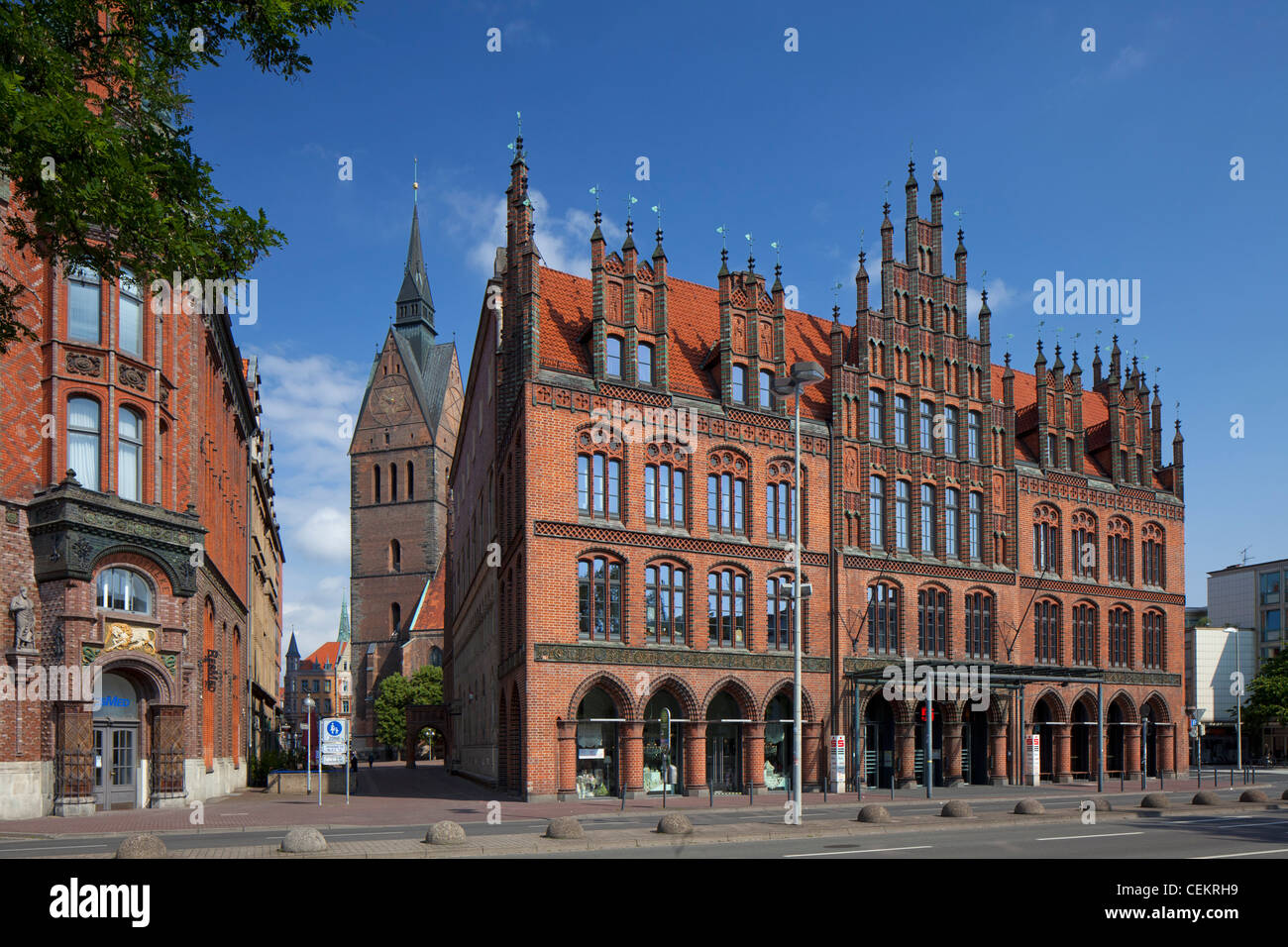 The Old Town Hall / Altes Rathaus in Hannover, Lower Saxony, Germany - Stock Image