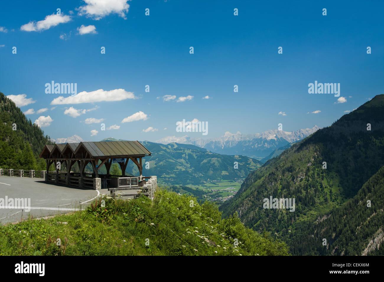 Kaprun area and Alps in Austria Stock Photo
