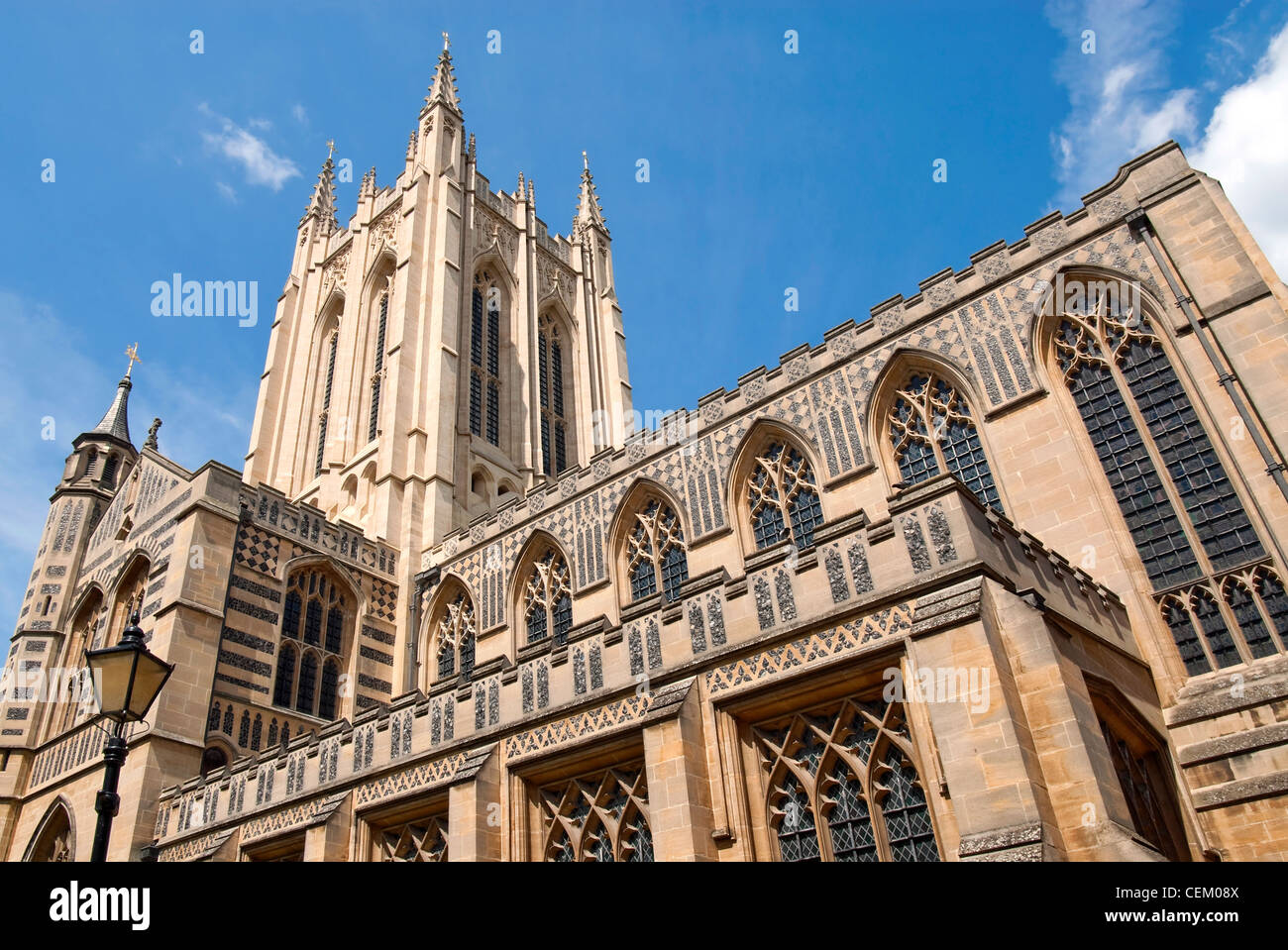 St Edmundsbury Cathedral, the cathedral for the Church of England's Diocese of St Edmundsbury and Ipswich in - Stock Image