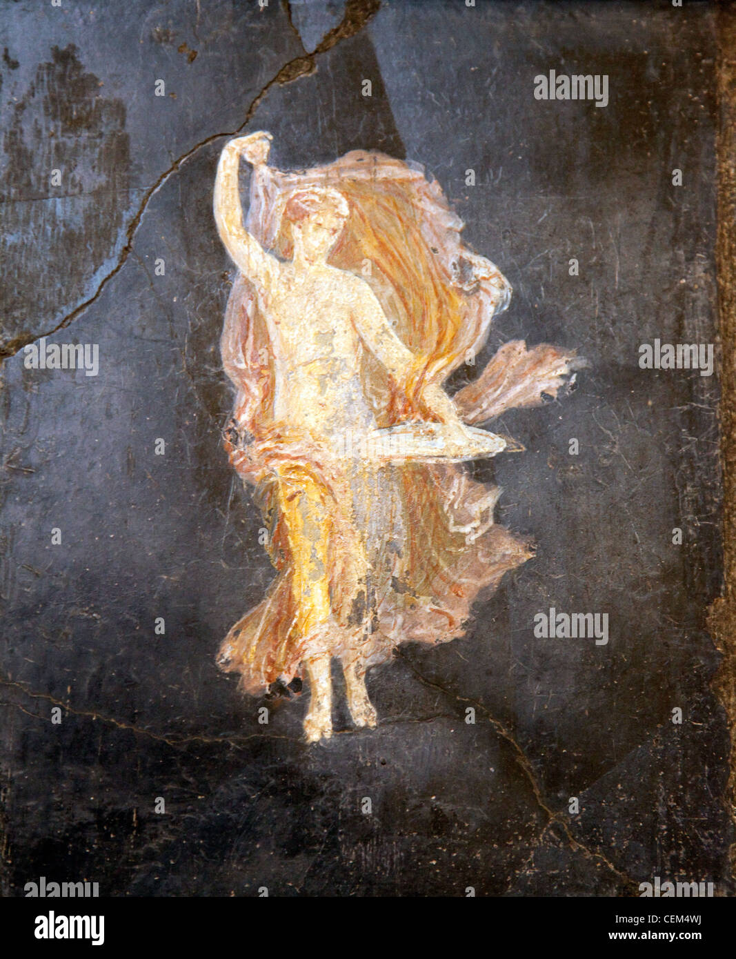 Naples, Naples National Archeological Museum, from Pompeii, Villa of Cicero, Dancing Maenad Stock Photo