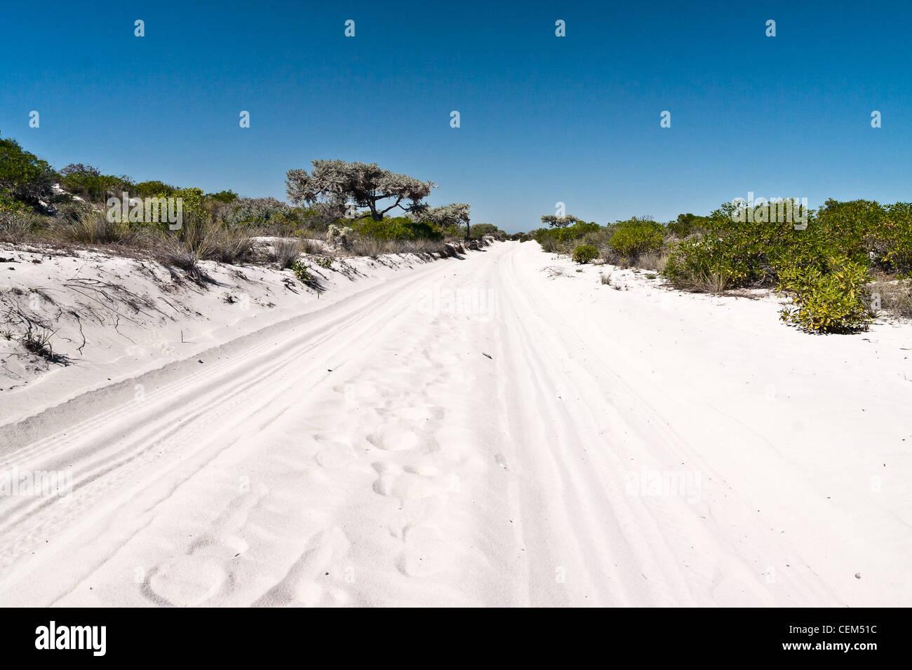 Sand track near Salary, southwestern Madagascar - Stock Image