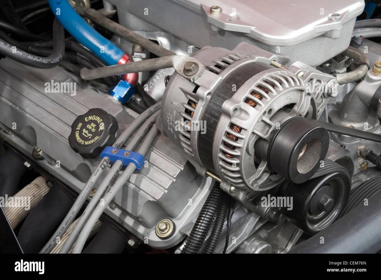 Car Alternator In A Vehicle Engine Bay Stock Photo 43470637 Alamy