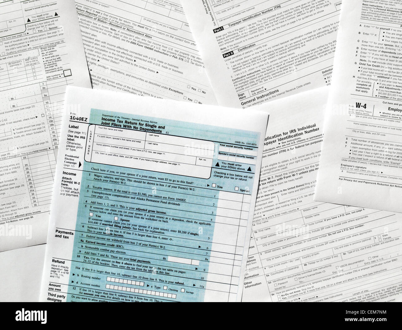 Blank Tax Form Stock Photos & Blank Tax Form Stock Images - Alamy