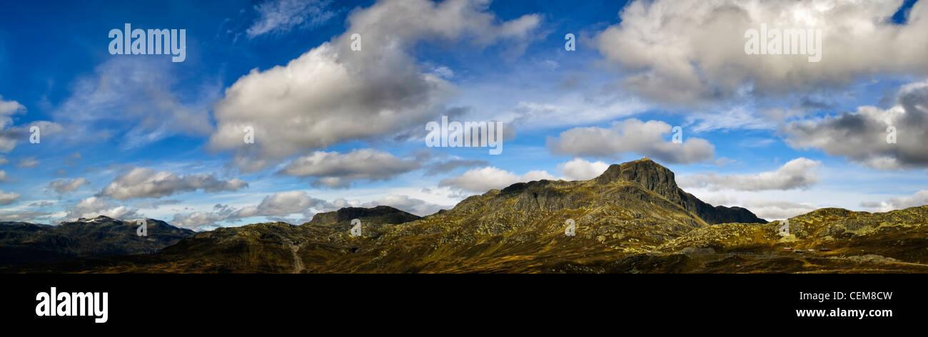 Panorama of Bitihorn in Norway. - Stock Image