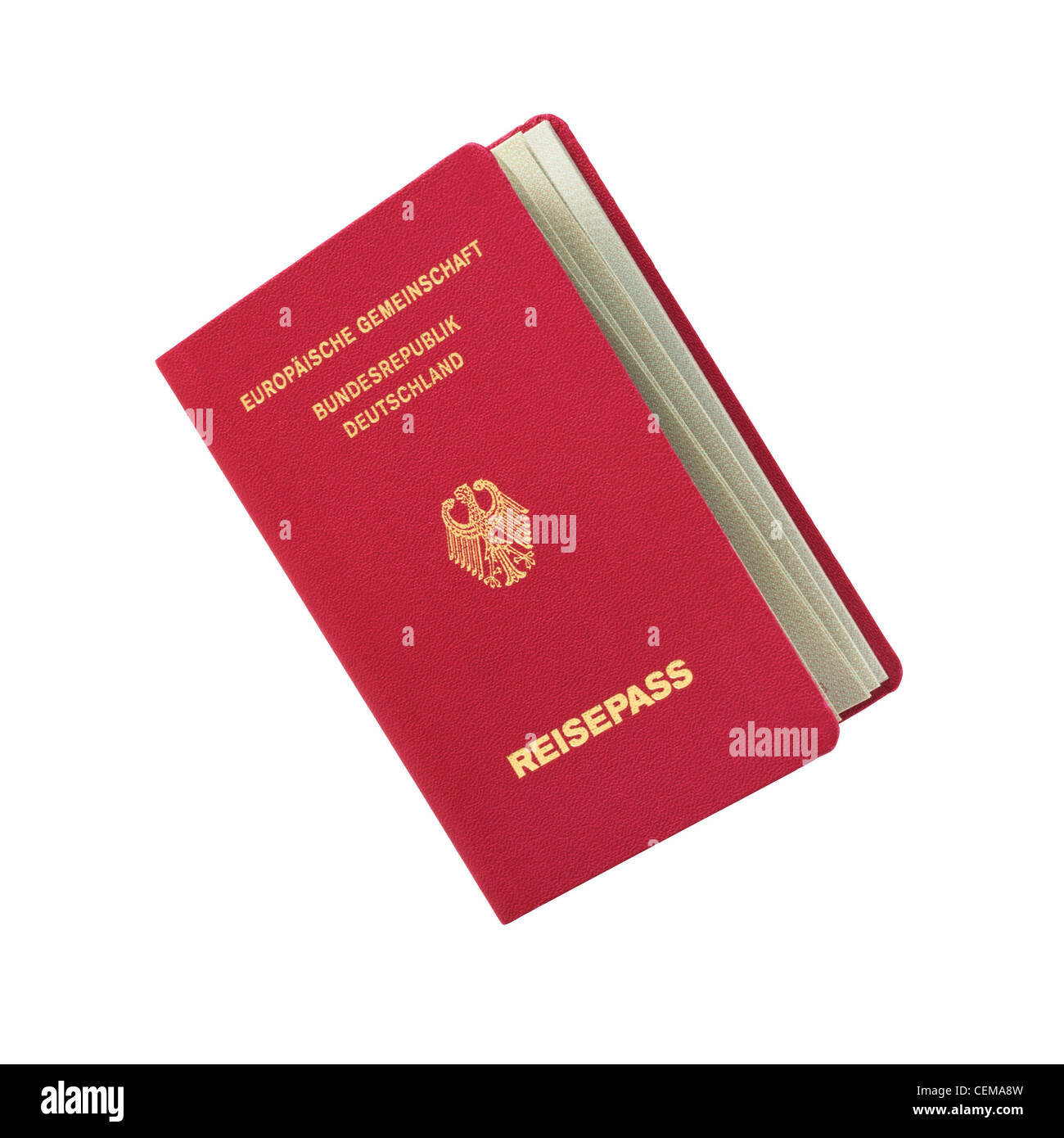 German passport - Stock Image