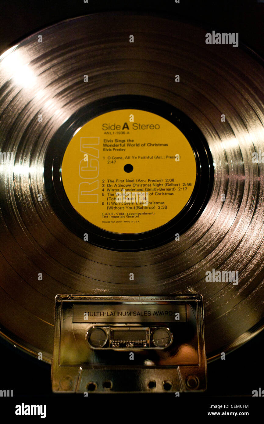 Elvis Presley\'s Graceland home, interiors and belongings Stock Photo ...