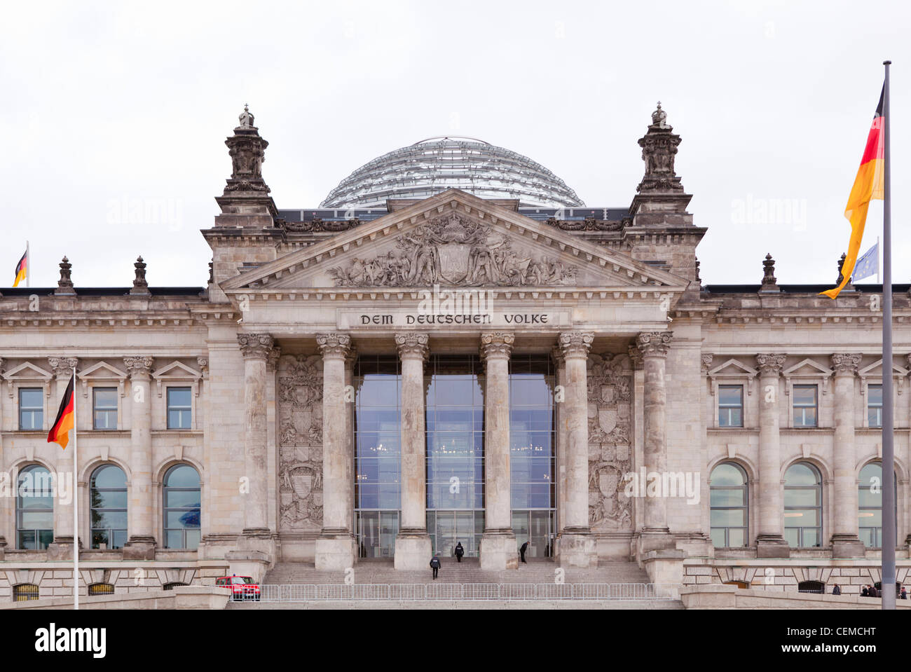 The Bundestag. The German Parliament and Government Building in Berlin. - Stock Image