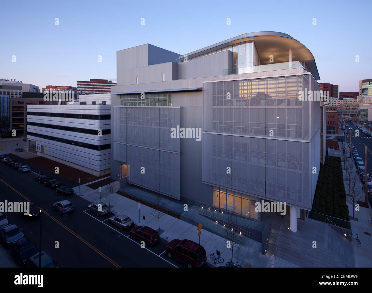 The Media Lab Extension (Building E14) at MIT, designed by