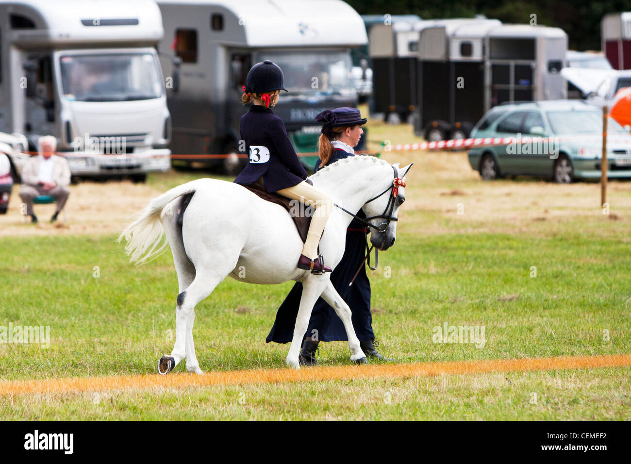 Cossack display horse riding team showing their skills and horsemanship - Stock Image