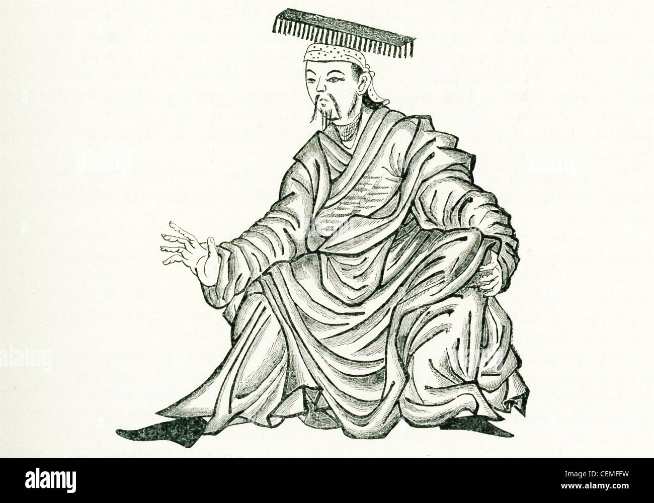 Marco Polo in his writings tells of 'gold king' or a 'Roi d'Or,' the name that the Mongols had - Stock Image