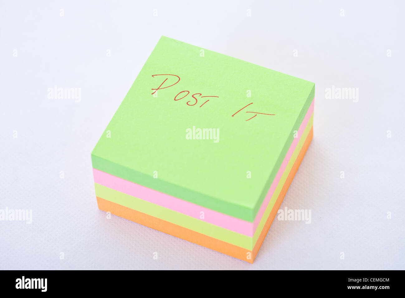 post it notes, multi colored post it notes,post it note block,note paper block,note block,note paper,multi colored - Stock Image