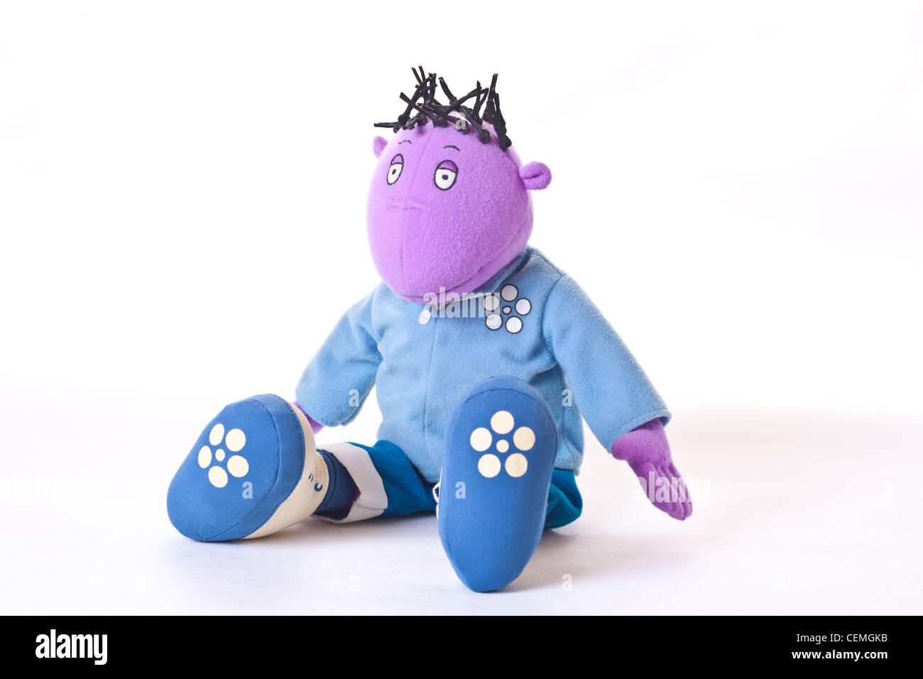 milo from the tweenies tv childrens show, cuddly toy, toy milo, milo the toy, milo the childrens toy - Stock Image