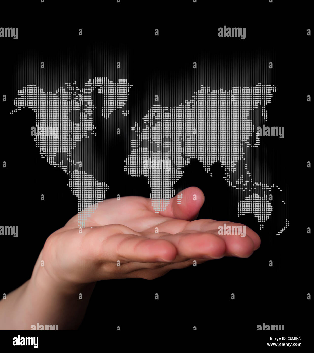 Dot world map business background hand holding world map stock dot world map business background hand holding world map gumiabroncs Image collections