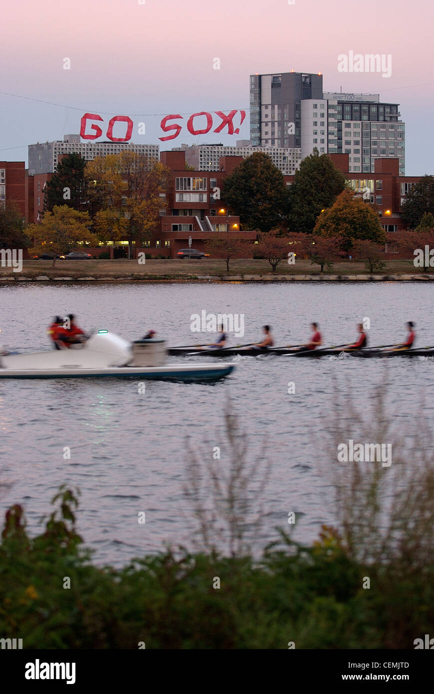 MIT go sox hacks rowers Feb 19 2012 massachusetts institute technology red sox boston cambridge - Stock Image