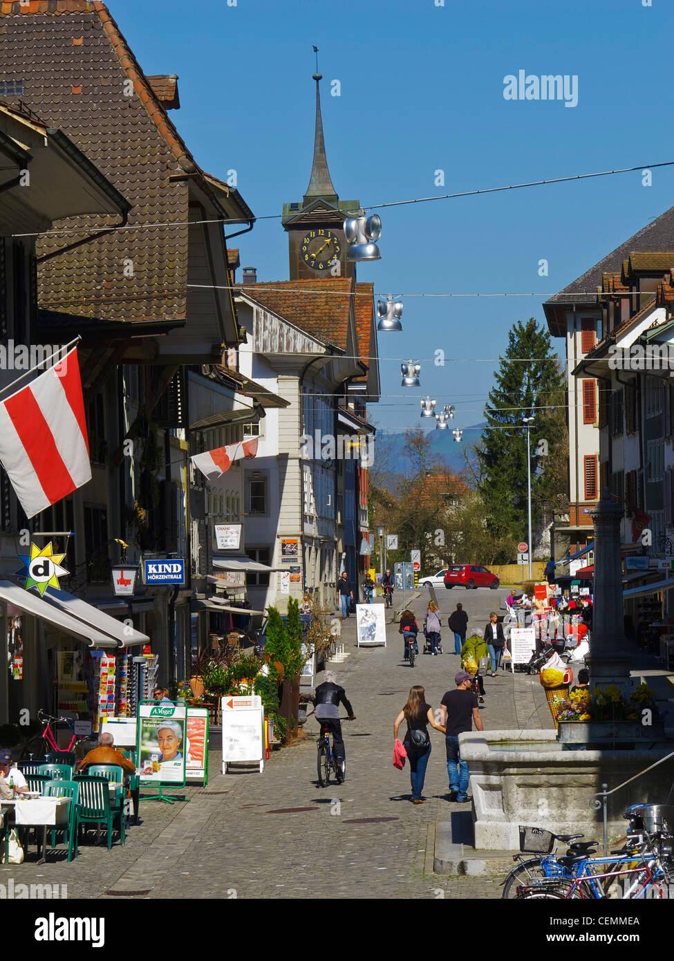 The historic city center of Zofingen, Argovia, Switzerland. - Stock Image