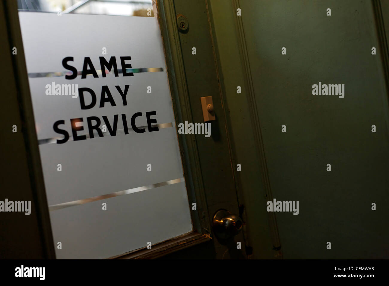 Same Day Service - Stock Image