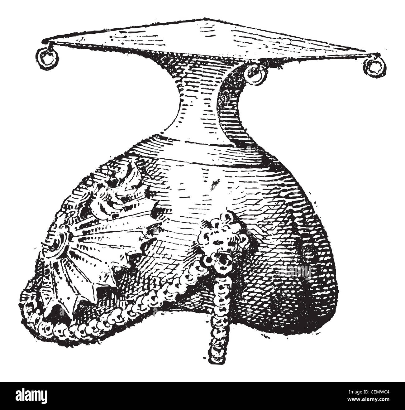 Czapka, vintage engraved illustration. Dictionary of words and things - Larive and Fleury - 1895. - Stock Image