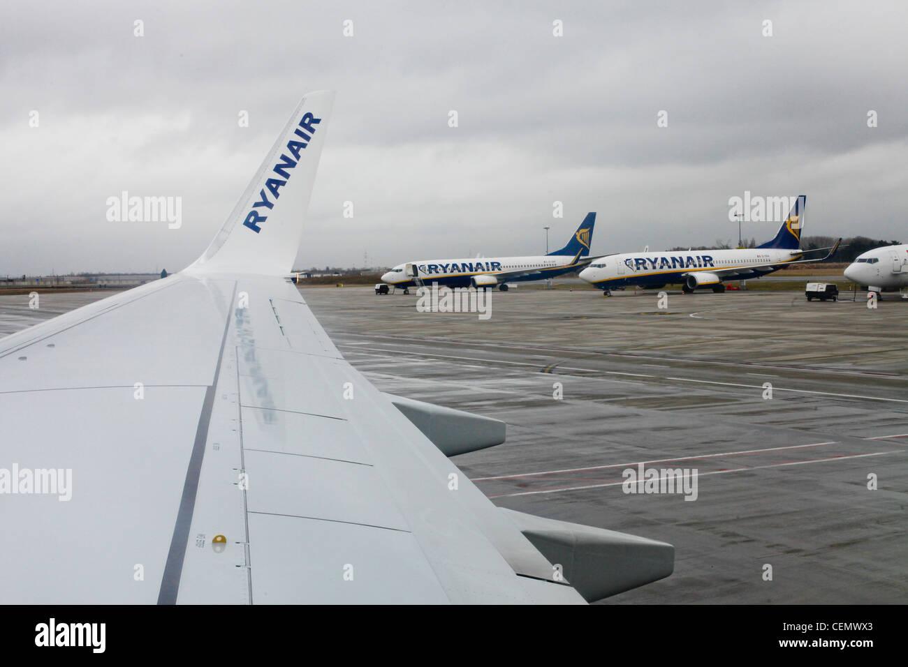 Ryanair airplanes - Stock Image