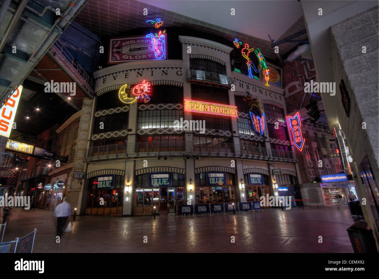 Manchester Printworks Entertainment complex, Interior, England city UK Stock Photo