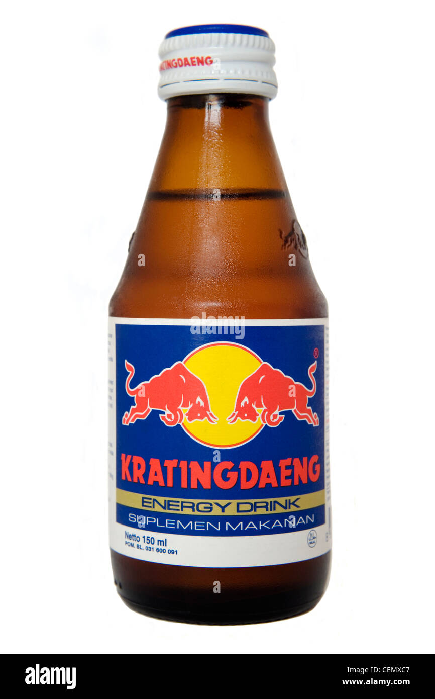 the original red bull krating daeng from indonesia south east asia stock photo 43485687 alamy. Black Bedroom Furniture Sets. Home Design Ideas