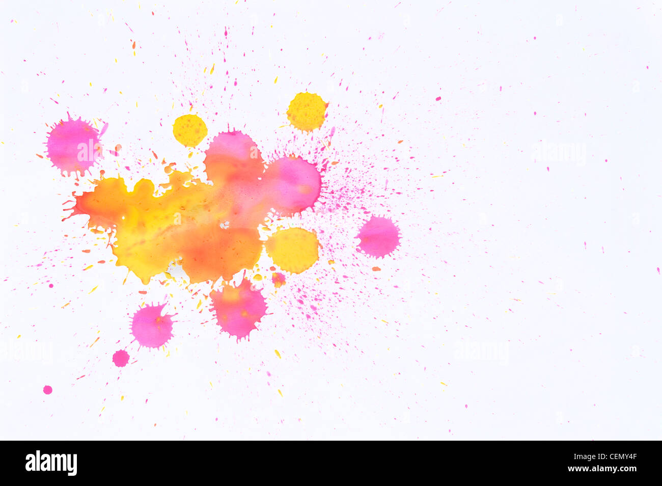 Holi Colors splashed on white Background – Concept - Stock Image