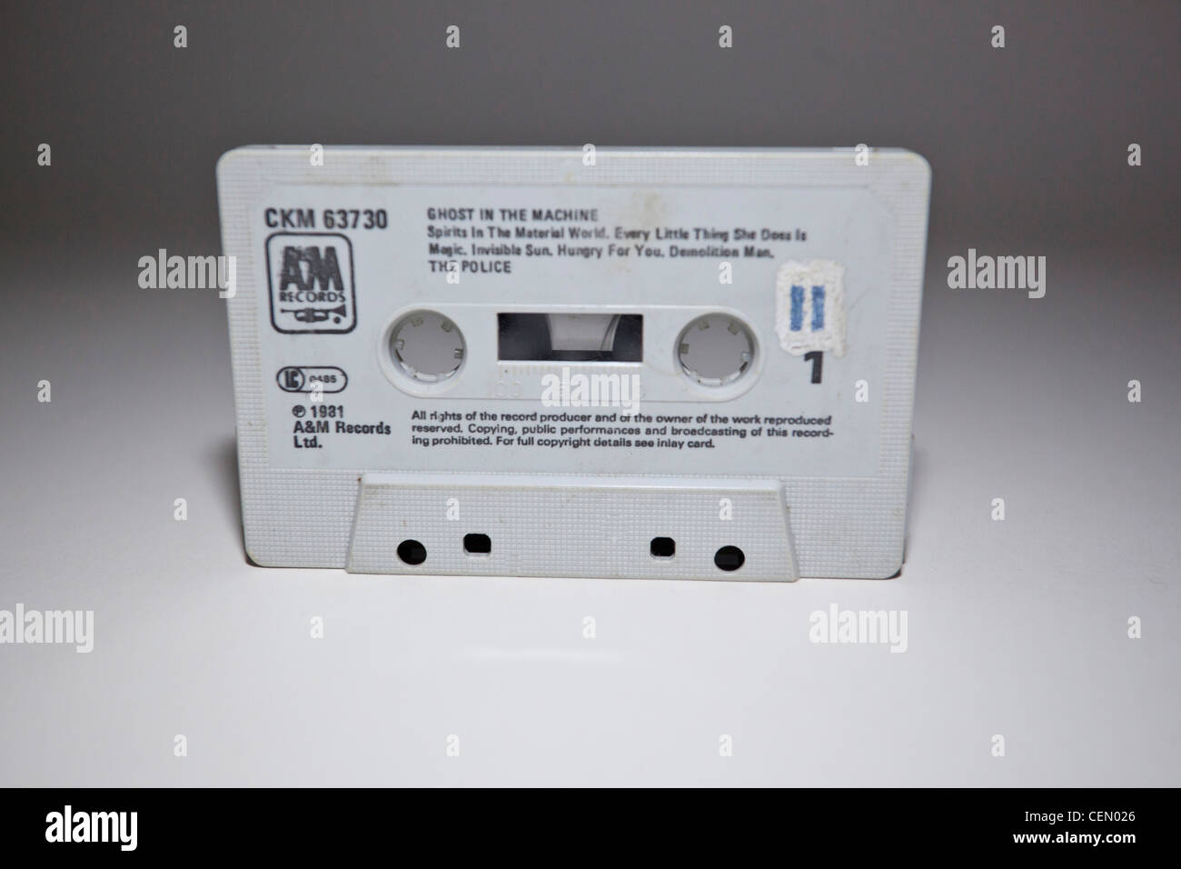 Old cassette tape - Stock Image