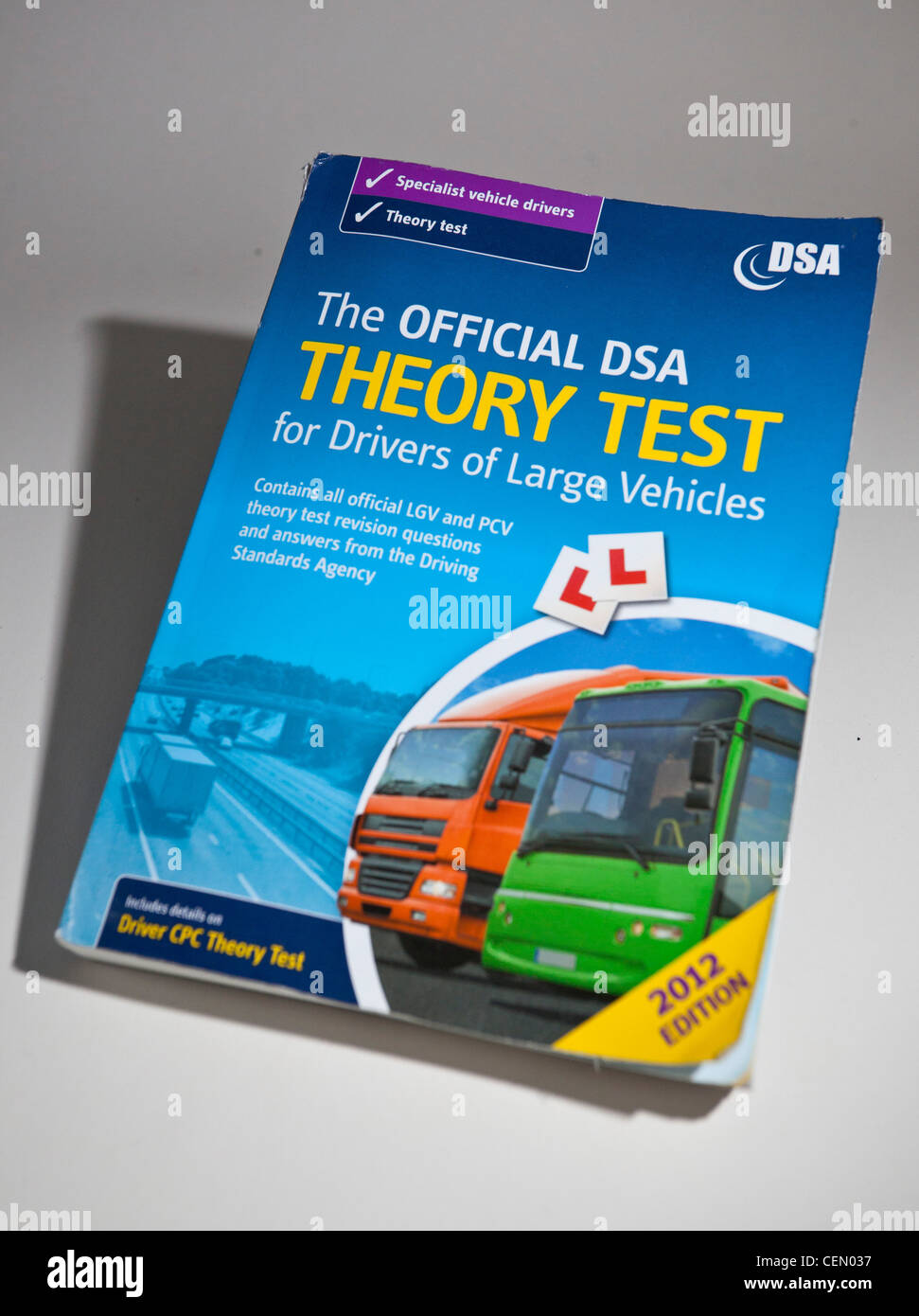 Driving theory test book - Stock Image
