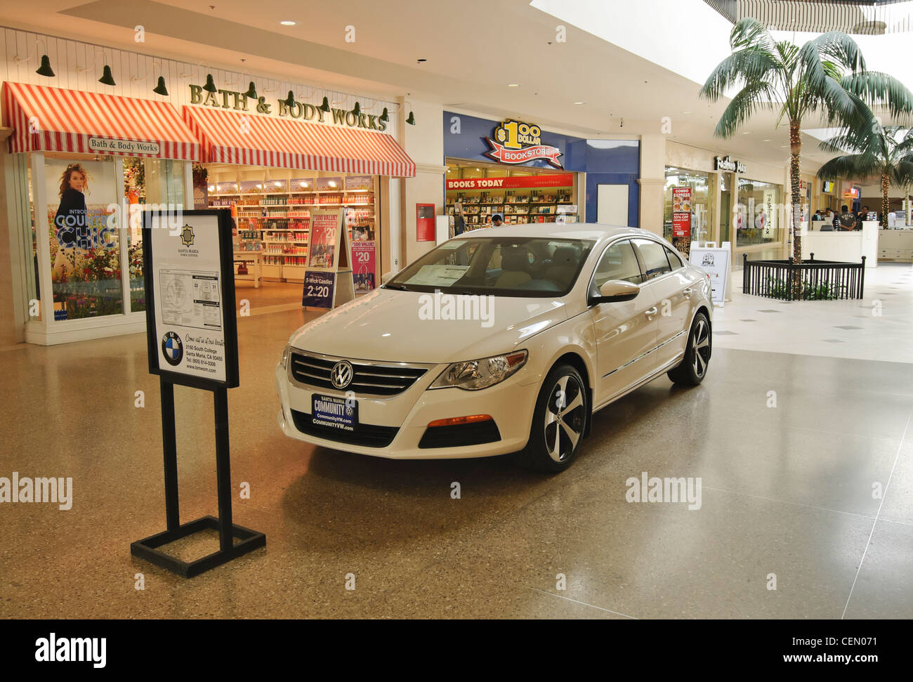 A car dealership displaying their cars in a shopping mall Stock Photo: 43487109 - Alamy