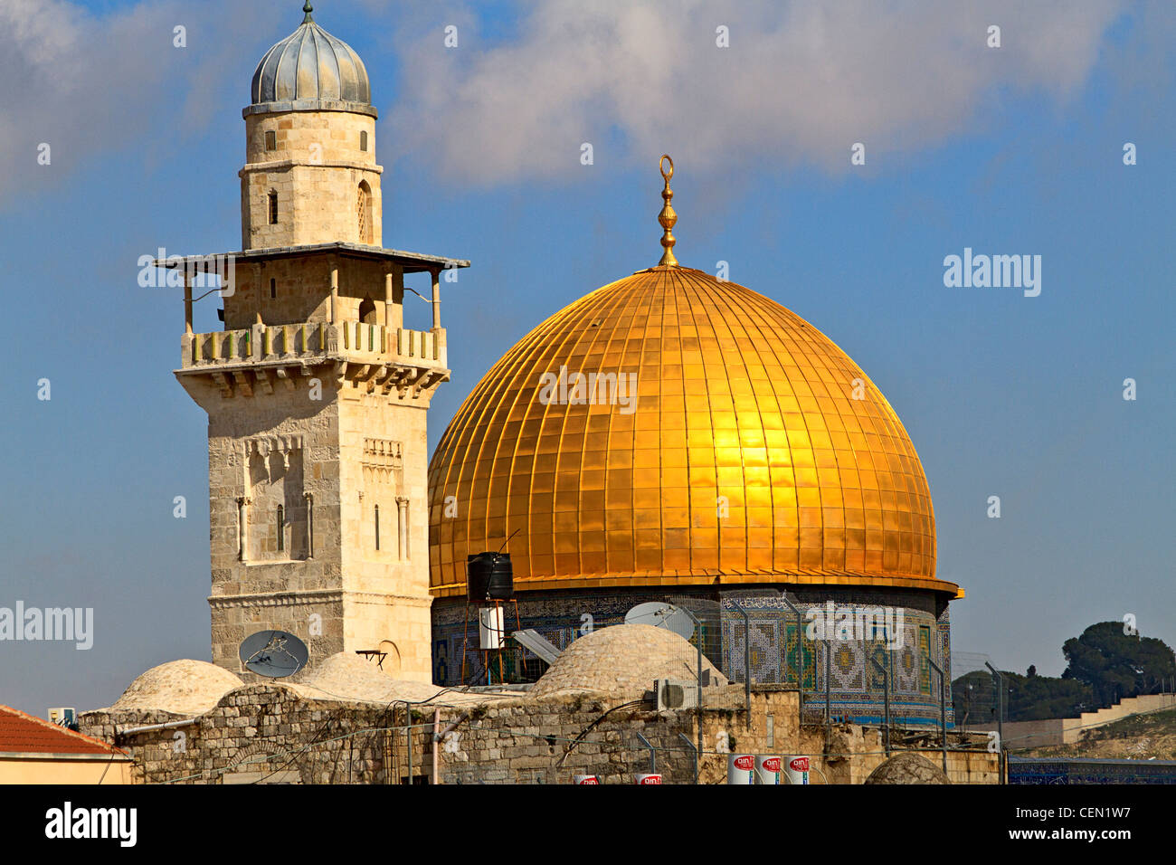 Dome of the Rock, famous Islamic site in Jerusalem Stock Photo