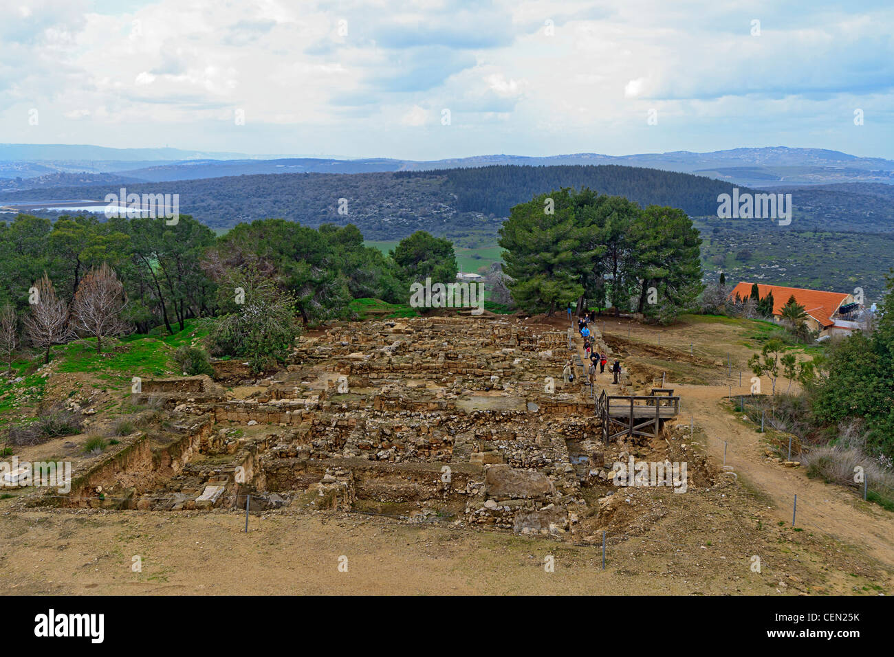 Overview of excavations at Zippori National Park in the Lower Galilee of Israel. Stock Photo